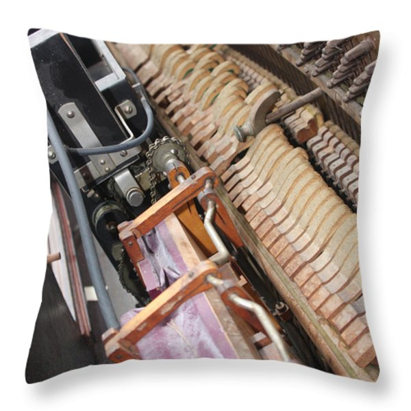 Aeolian Player Piano-3487 Throw Pillow by Gary Gingrich Galleries