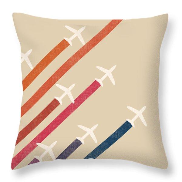 Aerial Display Throw Pillow by Budi Satria Kwan