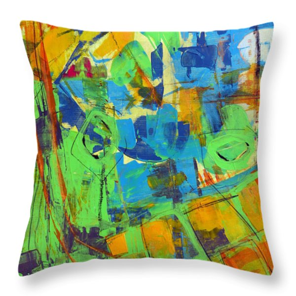 Aerial View Throw Pillow by Katie Black