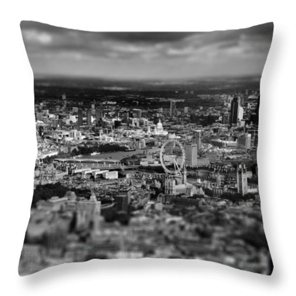 Aerial View Of London 6 Throw Pillow by Mark Rogan