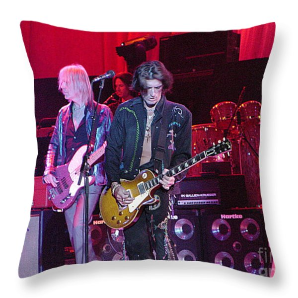 Aerosmith-joe Perry-00019 Throw Pillow by Gary Gingrich Galleries