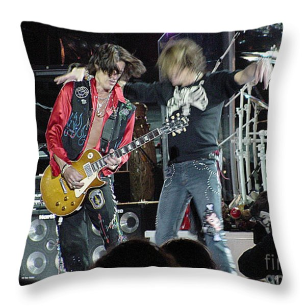 Aerosmith - Joe Perry -dsc00182-2 Throw Pillow by Gary Gingrich Galleries
