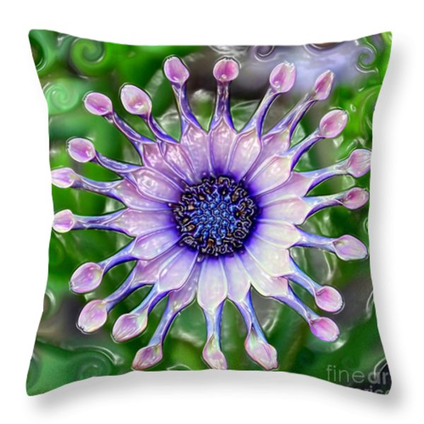 African Daisy For Van Gogh Throw Pillow by Carol Groenen