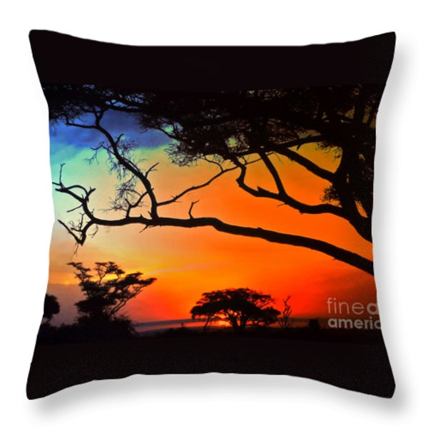 African Skies Throw Pillow by Lydia Holly