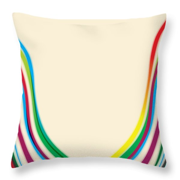 After Morris Louis 2 Throw Pillow by Gary Grayson