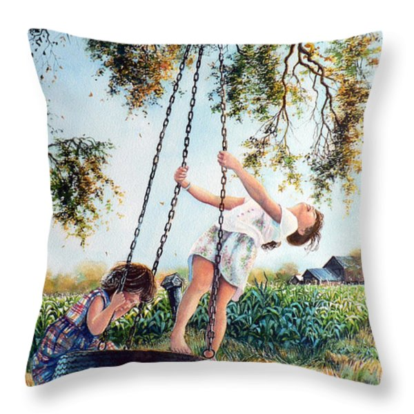 After School Throw Pillow by Hanne Lore Koehler