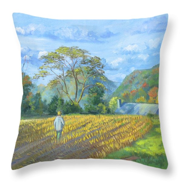 After The Harvest Throw Pillow by Dominique Amendola