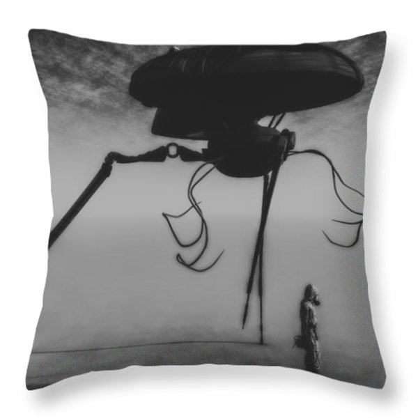 After The Invasion Throw Pillow by Bob Orsillo