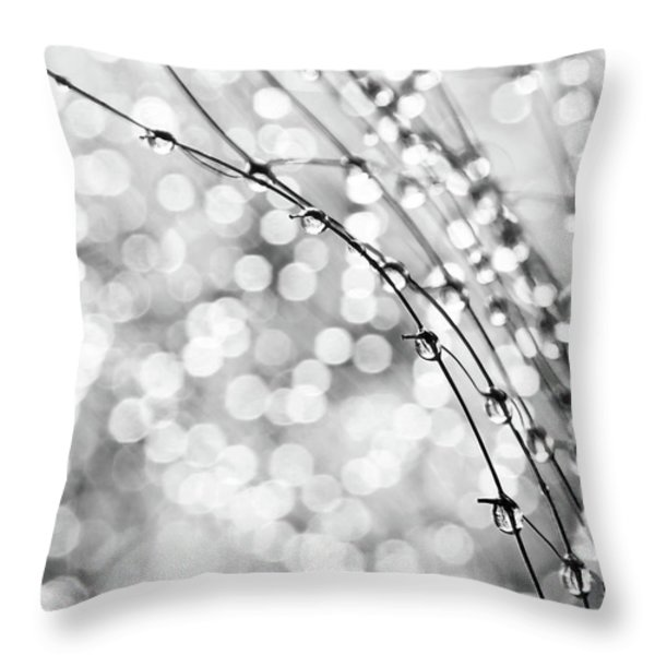 After The Rain Throw Pillow by Theresa Tahara