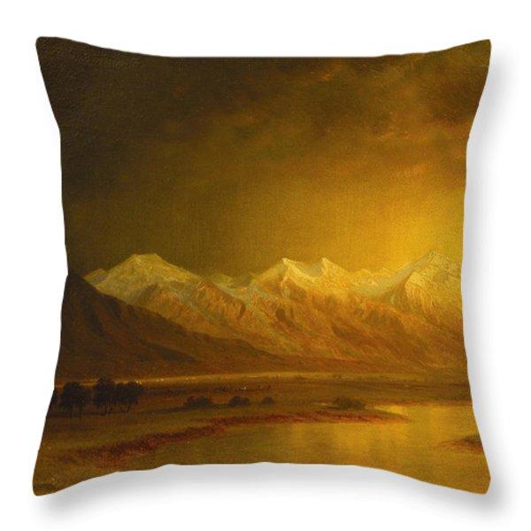 After The Storm Throw Pillow by Gilbert Davis Munger