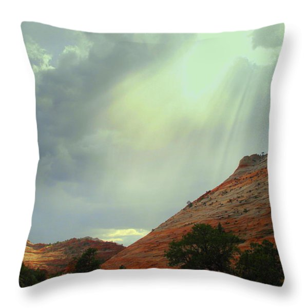 After the Storm Throw Pillow by J Allen