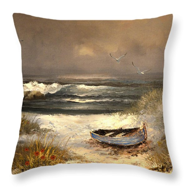 After The Storm Passed Throw Pillow by Sandi OReilly