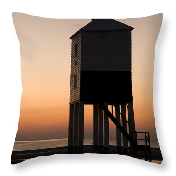After the Sun Set Throw Pillow by Anne Gilbert