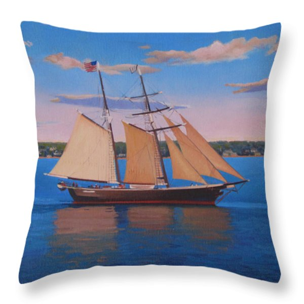 Afternoon Sail Throw Pillow by Dianne Panarelli Miller