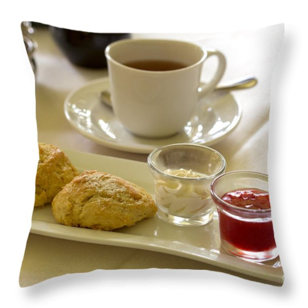 Afternoon tea Throw Pillow by Louise Heusinkveld
