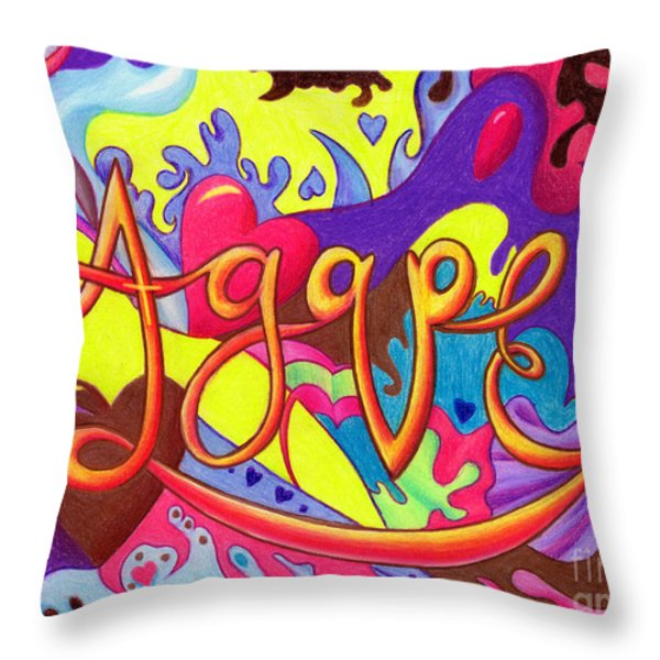 AGAPE Throw Pillow by Nancy Cupp