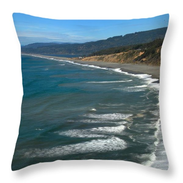 Agate Beach Throw Pillow by Adam Jewell
