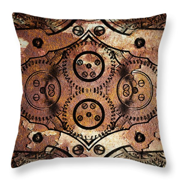 Age Of The Machine 20130605rust vertical Throw Pillow by Wingsdomain Art and Photography