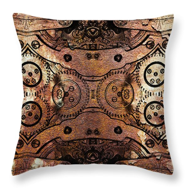 Age Of The Machine 20130605rust Throw Pillow by Wingsdomain Art and Photography