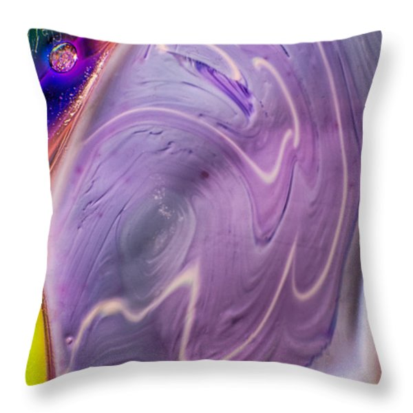 Ageing Throw Pillow by Omaste Witkowski