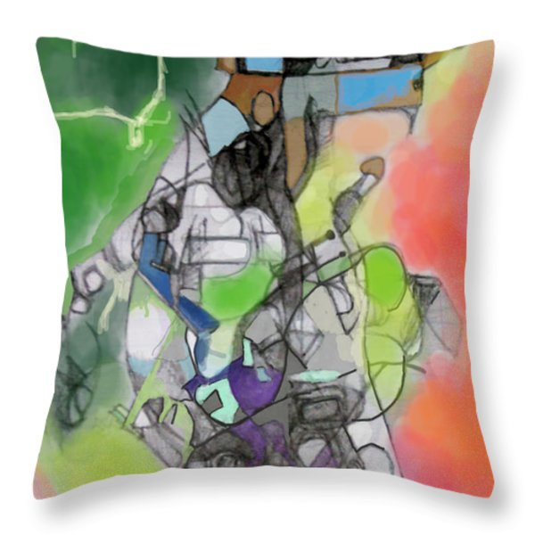 aging process 10g Throw Pillow by David Baruch Wolk