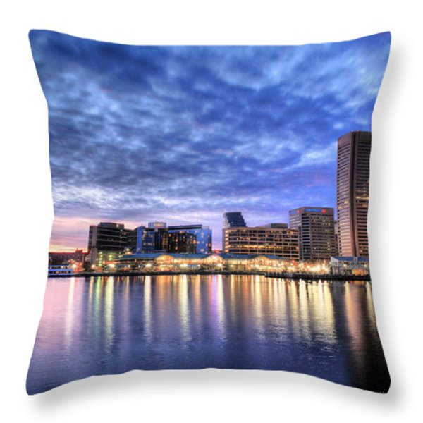 Ah Baltimore Throw Pillow by JC Findley