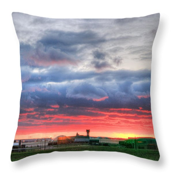 Ah Kansas Throw Pillow by JC Findley
