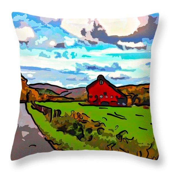 Ah...west Virginia Line Art Throw Pillow by Steve Harrington