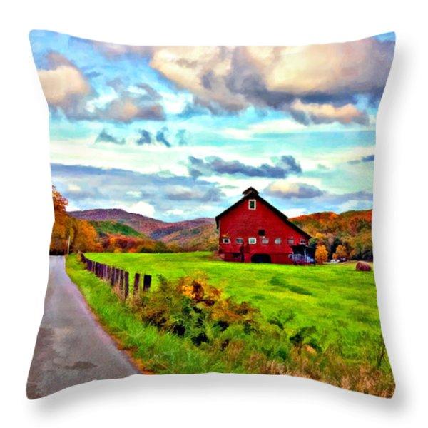 Ah...West Virginia oil Throw Pillow by Steve Harrington