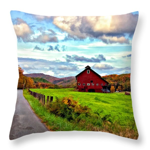 Ah...West Virginia painted Throw Pillow by Steve Harrington