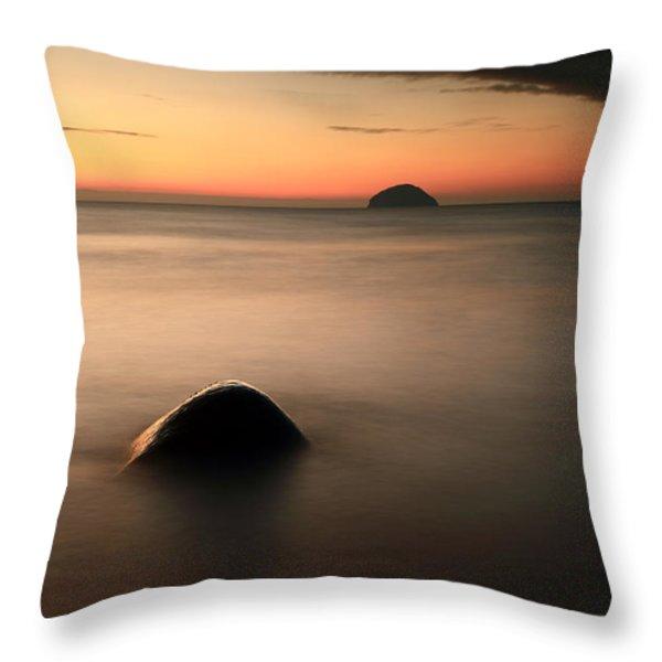 Ailsa Craig Sunset Throw Pillow by Grant Glendinning