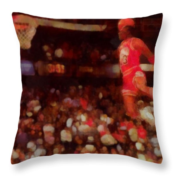 Air Jordan Throw Pillow by Dan Sproul