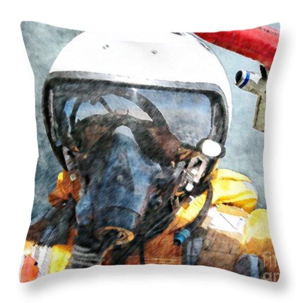 Air Pilot Throw Pillow by Liane Wright