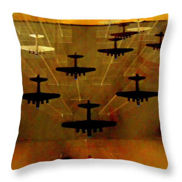 Air War Throw Pillow by Randall Weidner