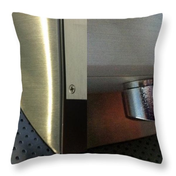 Airport Diptych Throw Pillow by Marlene Burns