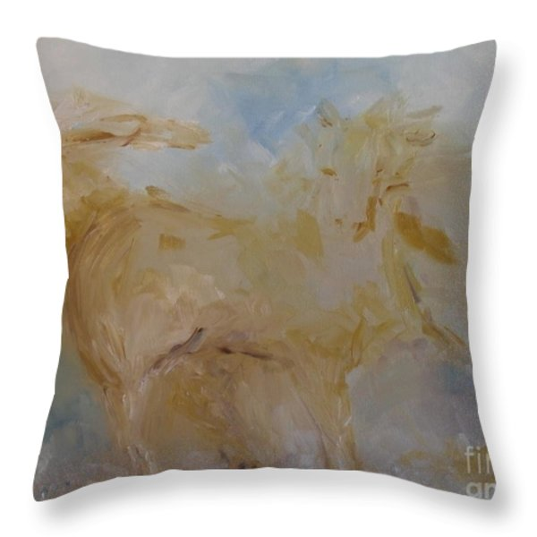 Airwalking Throw Pillow by Laurie D Lundquist