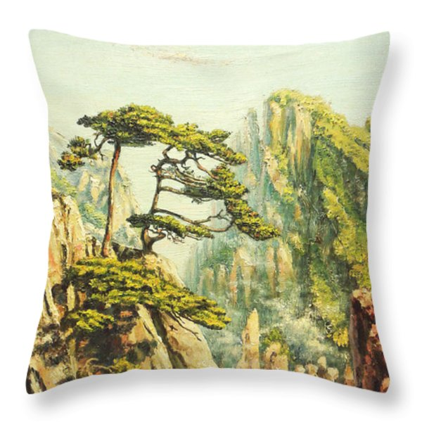 Airy Mountains Of China. Throw Pillow by Irina Sumanenkova