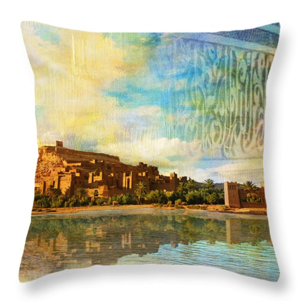 Ait Benhaddou  Throw Pillow by Catf