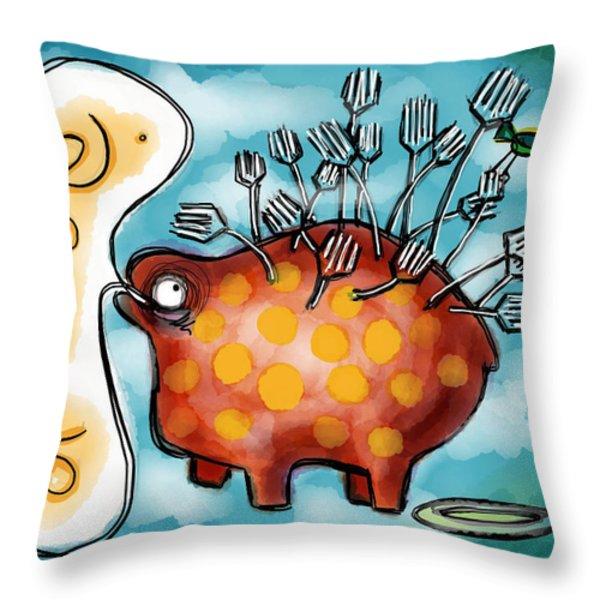Al Dente Throw Pillow by Kelly Jade King