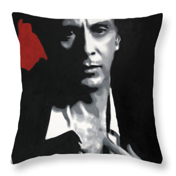 Al Pacino  Throw Pillow by Luis Ludzska