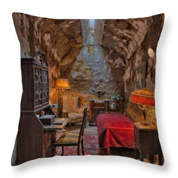 Al Scarface Capone Cell Throw Pillow by Susan Candelario