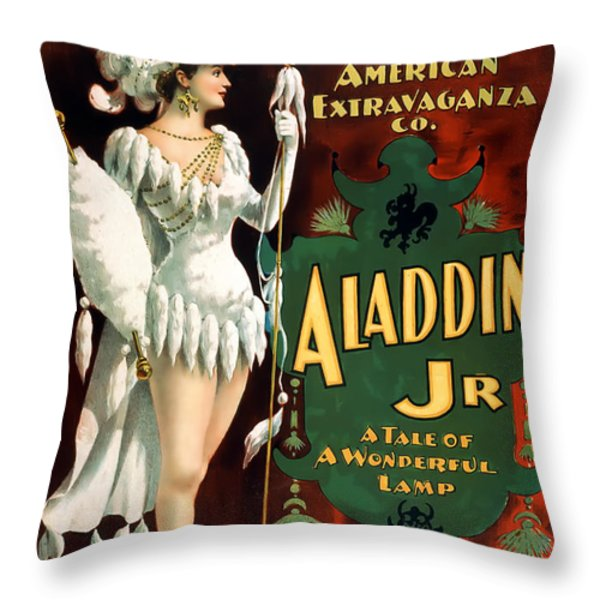 Aladdin Jr Amazon Throw Pillow by Terry Reynoldson