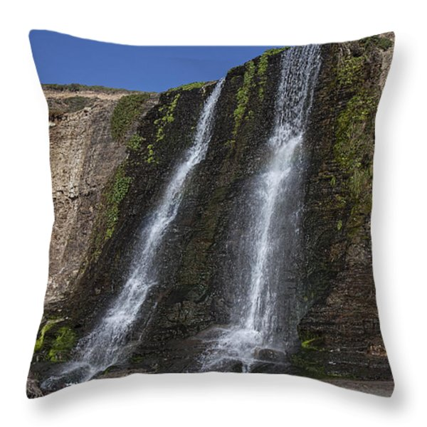 Alamere Falls Three Throw Pillow by Garry Gay