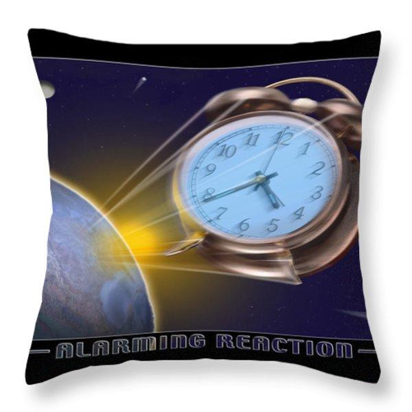 Alarming Reaction Throw Pillow by Mike McGlothlen