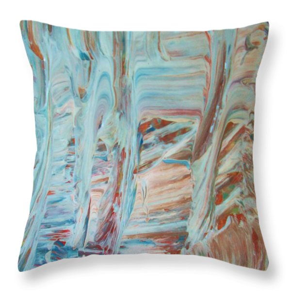 Alaska Throw Pillow by Artist Ai
