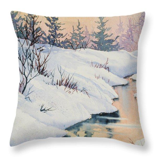 Alaska Gold Throw Pillow by Teresa Ascone
