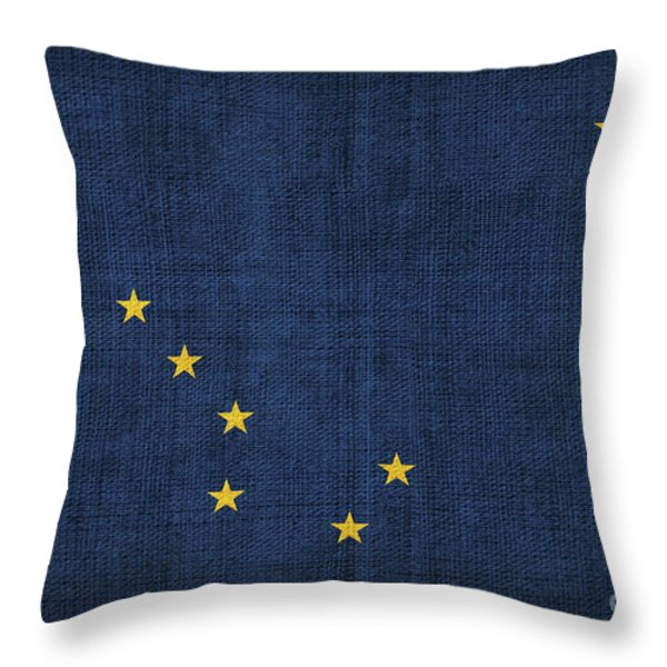 Alaska state flag Throw Pillow by Pixel Chimp