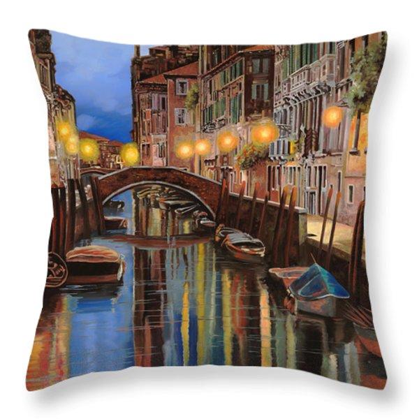 alba a Venezia  Throw Pillow by Guido Borelli