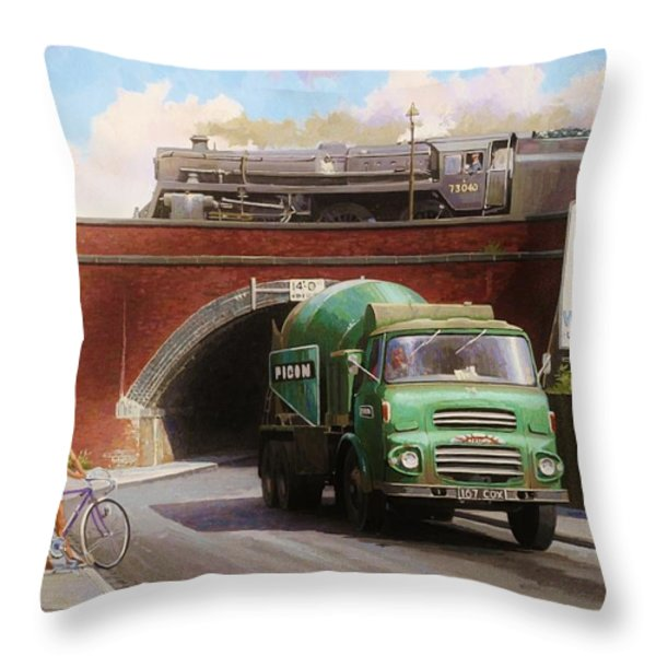 Albion Mixer. Throw Pillow by Mike  Jeffries