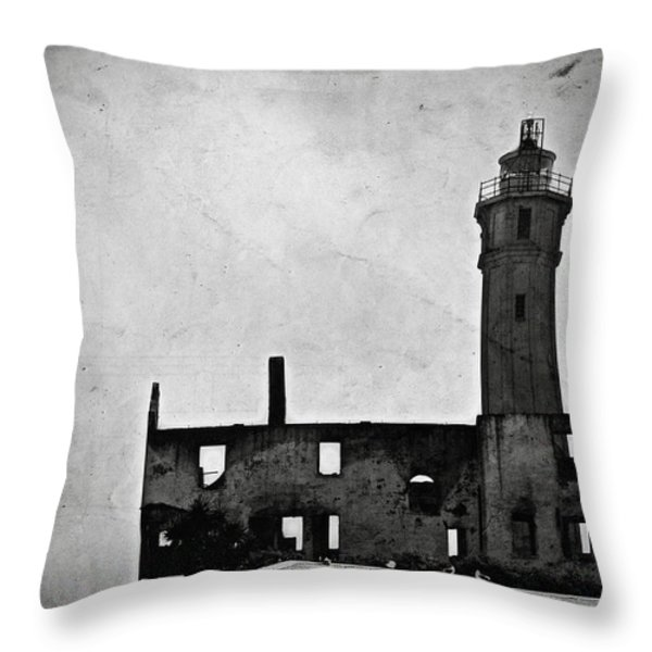 Alcatraz Island Lighthouse Throw Pillow by RicardMN Photography